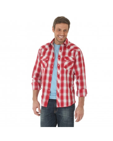 Wrangler® Men's Long Sleeve Snap Front Shirt