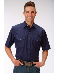 Roper® Men's Short Sleeve Classics Western Style Solid Shirt