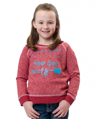 Cowgirl Tuff® Girls' Never Give Up Sweater