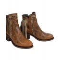 Corral Boots® Ladies' Brown Fringe Ankle Boots