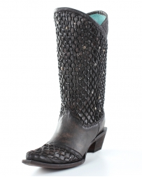 Corral Boots® Ladies' Black Overlay And Studs Boots