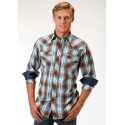 Roper® Men's Long Sleeve Western Style Snap Shirt