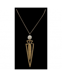 Justin® Boots Ladies' Gold Feather and Arrowhead Necklace