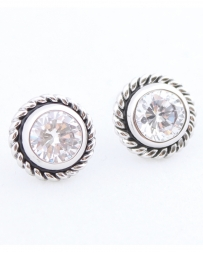 Cindy Smith® Ladies' Stud Earrings with Rope Halo