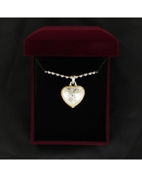 Lightning Ridge Heart Necklace