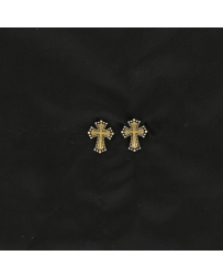 Lightning Ridge Cross Earrings