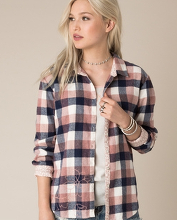 White Crow® Ladies' Last Outlaw Plaid Shirt