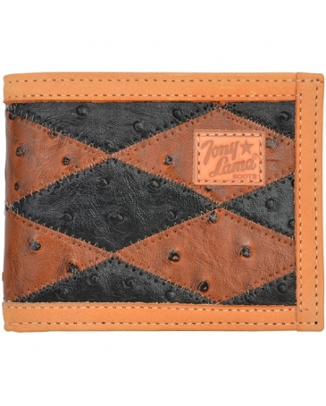 Tony Lama® Men's Cognac & Black Western Bifold Wallet