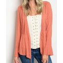 Just 1 Time® Ladies' Diamond Pattern Open Cardigan