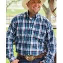 Cinch® Men's Long Sleeve Plaid Shirt