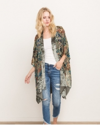 Mystree® Ladies' Chiffon Flocked Cardigan