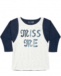 Miss Me® Girls' Raglan Top