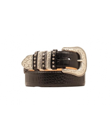 Nocona® Ladies' Black Print Belt
