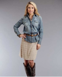 Stetson® Ladies' Denim Studded Shirt