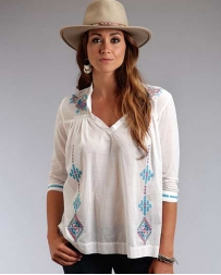 Stetson® Ladies' White Voile Blouse