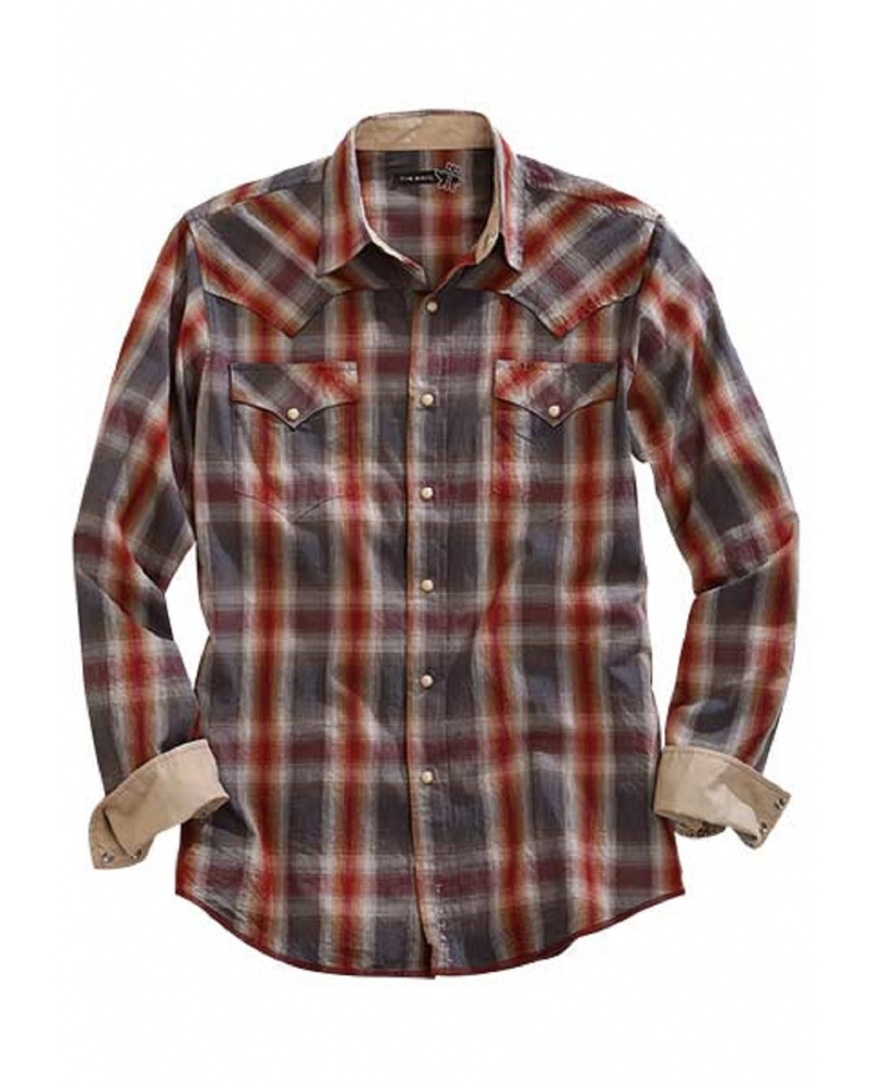 Tin Haul Men 39 S Long Sleeve Plaid Shirt Fort Brands