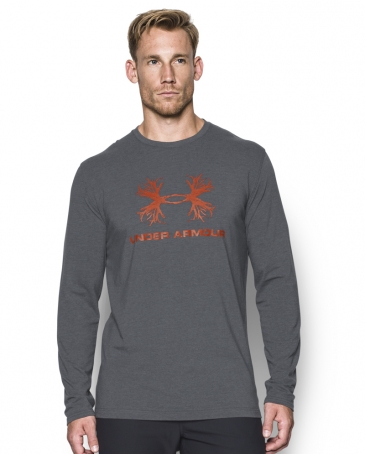 Under Armour® Men's Antler Logo LS Charged Cotton Tee