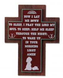 Montana Lifestyles® Bedtime Prayer Cross Wall Sign