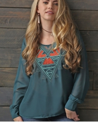 Cruel® Ladies' Aztec Chiffon Top