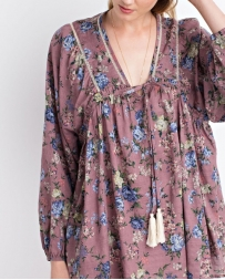 Just 1 Time® Ladies' Easel Floral Peasant Top