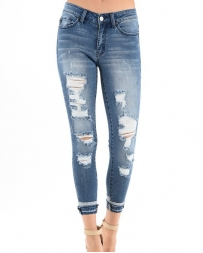 Kancan® Ladies' Distressed Cuffed Skinny