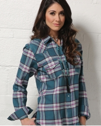 Cruel® Ladies' Boyfriend Fit Plaid Shirt