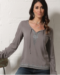 Cruel® Ladies' Chiffon Aztec Top