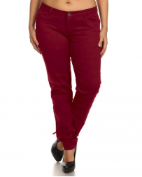 Younique® Ladies' Curvy Red Skinny Jeans