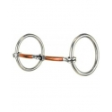 """ Smooth Copper Snaffle Bit"