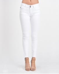 Kancan® Ladies' White Skinny Jeans