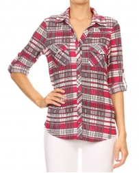 Just 1 Time® Ladies' Curvy Plaid Shirt