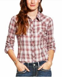 Ariat® Ladies' Long Sleeve Leona Snap Shirt