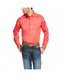 Ariat® Men's Solid Twill Long Sleeve Shirt - Big & Tall