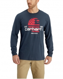 Carhartt® Men's Lubbock Graphic Filled Flag Long-Sleeve Tee