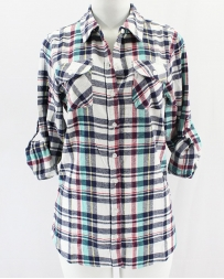 Just 1 Time® Ladies' COA Flannel Plaid Shirt