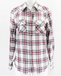 Just 1 Time® Ladies' Snap Brushed Plaid Shirt