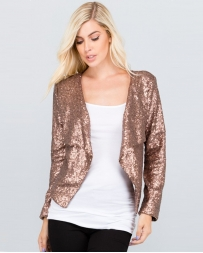 Just 1 Time® Ladies' Rose Gold Sequin Blazer