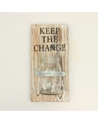 "Western Moments® ""Keep the Change"" Jar Wall Decor"