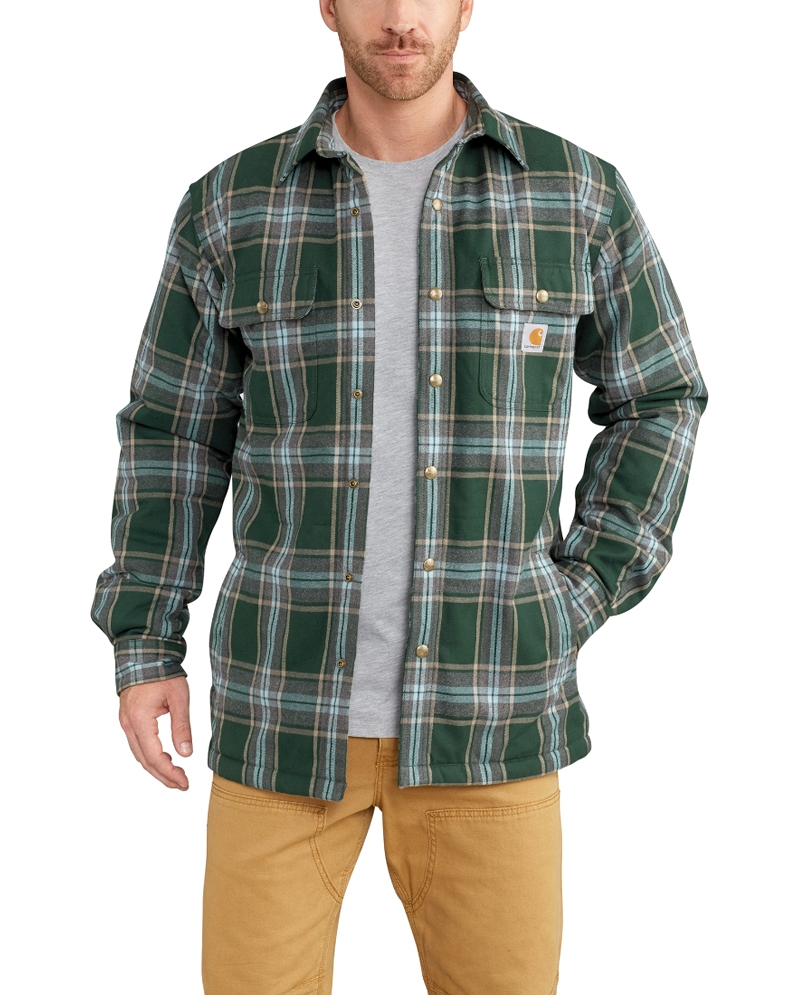 89f8771ec Carhartt® Men s Hubbard Sherpa Lined Flannel Shirt Jac - Fort Brands