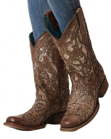 Corral Boots® Ladies' Square Toe Glitter Boot