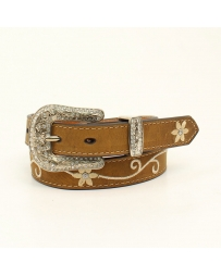 Nocona® Girls' Floral Brown Belt