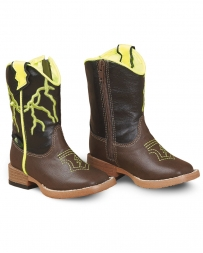 M&F Western Products® Kids' Toddler Ace Lightening Bolt Boot