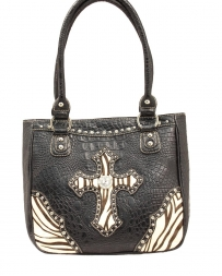 M&F Western Products® Ladies' Shoulder Zebra Cross Bag