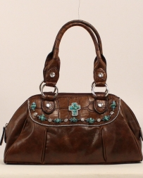 M&F Western Products® Ladies' Satchel Cross Brown