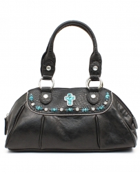 M&F Western Products® Ladies' Satchel Cross Black