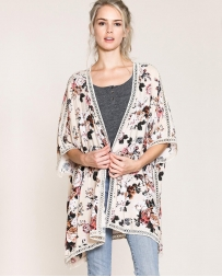 Just 1 Time® Ladies' Floral Open Kimono