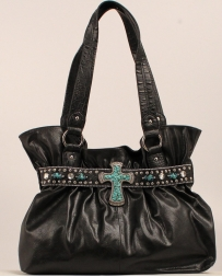 M&F Western Products® Ladies' Hobo Turquoise Cross Purse