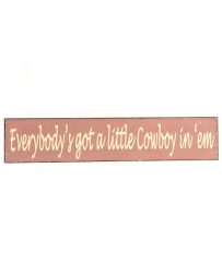 Western Moments® Cowboy Sign