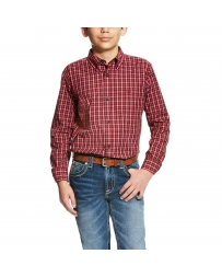 Ariat® Boys' Benton Plaid Shirt