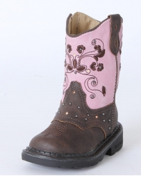 Roper® Girls' Brown & Pink Dazzle Lights Boots - Toddler